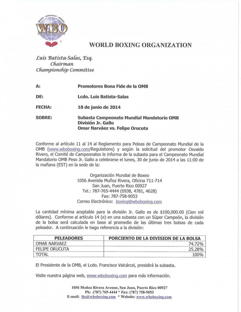 140618 Aviso Subasta OMB Jr. Gallo Narvaez-Orucuta