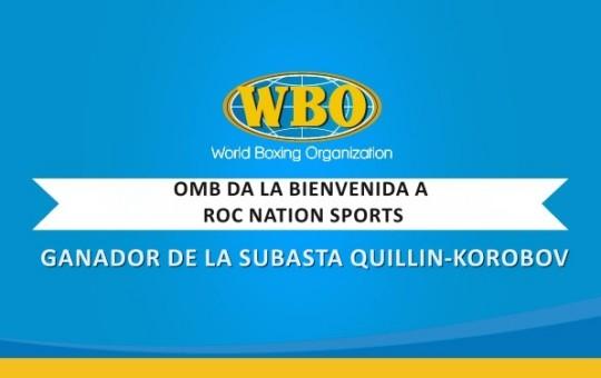 OMB da la bienvenida a Roc Nation Sports, ganador de la subasta para combate Quillin-Korobov