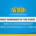 WBO JR. FEATHERWEIGHT GUILLERMO RIGONDEUX VS. CHRIS AVALOS