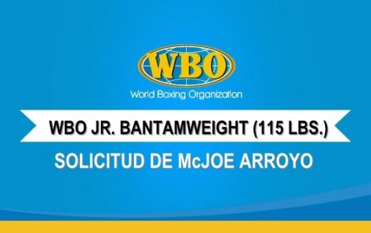 Solicitud de McJoe Arroyo para ser clasificado #1 en las 115 lbs.