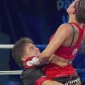 """Daniela """"La Bonita"""" Bermúdez retuvo corona súper mosca de la OMB"""