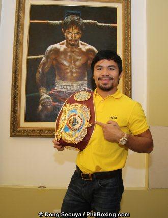 Pacquiao Receives WBO Super Champion Belt