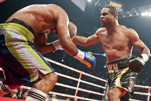 Jean Pascal (R) of Canada punches Bernar