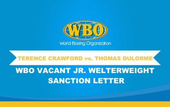 WBO Vacant Jr. Welterweight Championship Bout