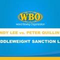 WBO Middleweight Championship Bout