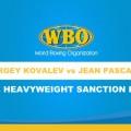 WBO Lt. Heavyweight Mandatory Championship Title