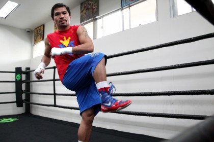 Pacquiao begins training with Roach at the Wild Card