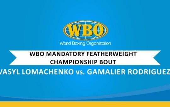WBO Mandatory Featherweight Championship Sanction Letter