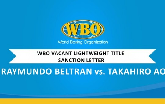WBO VACANT LIGHTWEIGHT CHAMPIONSHIP BOUT