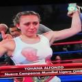 Yohana Alfonzo se consagró como la primera campeona mundial de boxeo de San Luis