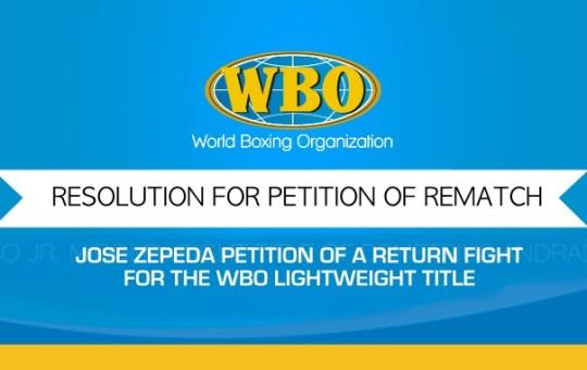 WBO WORLD CHAMPIONSHIP COMMITTEE RESOLUTION