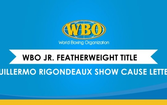 SHOW CAUSE LETTER TO GUILLERMO RIGONDEAUX