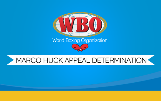 Marco Huck Appeal Determination
