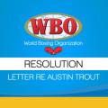 Letter re Austin Trout Resolution