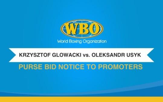 WBO JR. HEAVYWEIGHT CHAMPIONSHIP PURSE BID