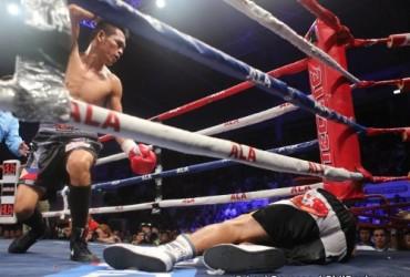 VILLANUEVA STOPS JIMENEZ IN A BIZARRE ENDING
