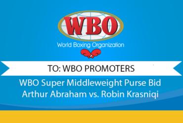 WBO Super Middleweight Purse Bid Arthur Abraham vs. Robin Krasniqi