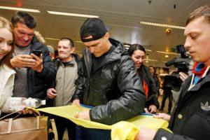 Ukrainian boxer Oleksandr Usyk in Kiev
