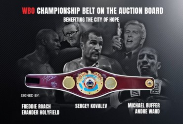 Auction of Autographed WBO Championship Belt for the benefit of City of Hope