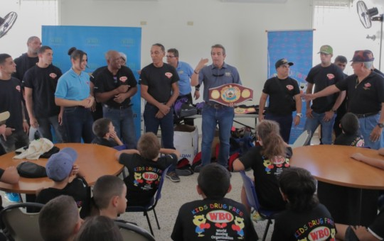 The WBO and several boxing figures shared their experience with future warriors