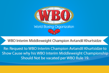 WBO Interim Middleweight Champion Avtandil Khurtsidze