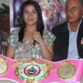 Montserrat Alarcón recibió cinto WBO en emotiva ceremonia