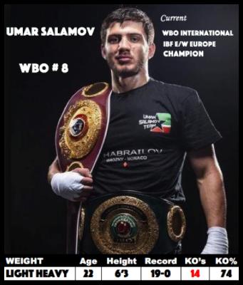 Umar Salamov to fight Damian Hooper on Pacquiao undercard