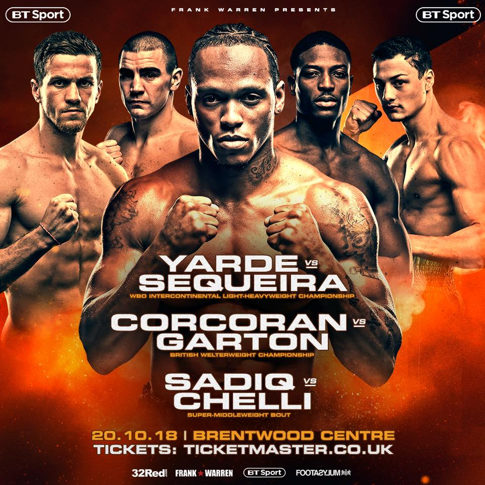 WBO | Saturday: Yarde-Sequeira to Highlight Afternoon of