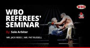 WBO Referee's Seminar by Sole Arbiter